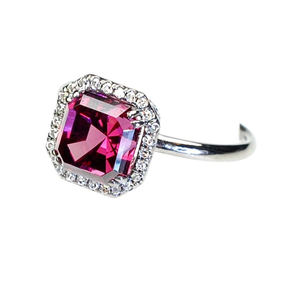 Engagement Ring Asscher Cut Diamond Ring Diamond Ring