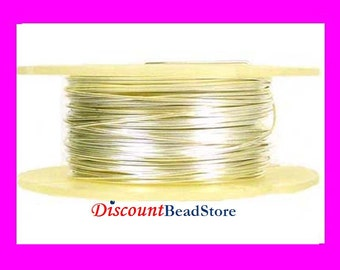 on sale 30 gauge solid 925 bright sterling silver Wire round beading dead soft .5 oz approx. 95ft in spool