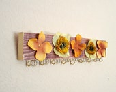 Jewelry organizer - Yellow Daisies and Buttercups - for your earrings and necklaces