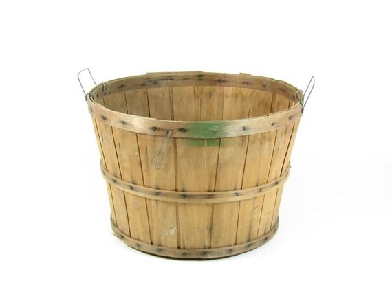Vintage Bushel Basket Orchard Basket Fall Decor