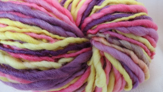 Pansies Handspun Art Yarn 120 yards