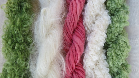 Assorted Mohair Boucle Mini skeins Yarn No.130