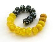 20  Mixed Orphan Lampwork Spacer beads - De Stash SALE 50% Off