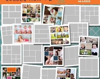 30x30 Storyboard COLLECTION 2- 20 Custom Photo Templates for Photographers