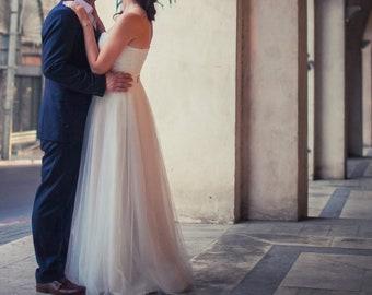 Custom size New white/ivory corset wedding dress - Natalya Dream