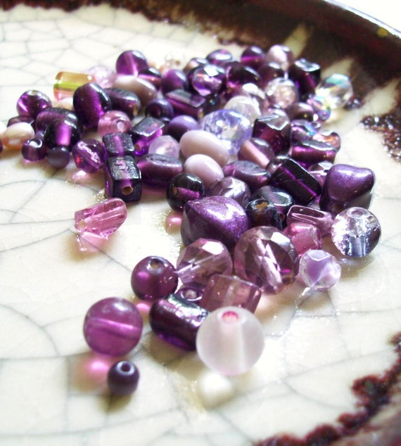 Purple Craze - Beads Mix - 80 beads
