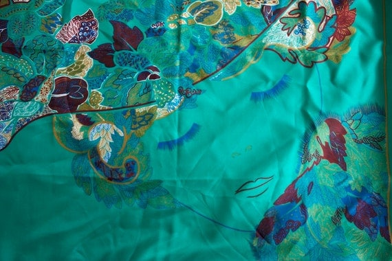 RESERVED for Stephanie Mitchell PIERRE CARDIN Vintage Scarf Stunning Hand Rolled