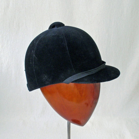 Vintage Equestrian Riding Helmet Hat By Rattyandcatty On Etsy