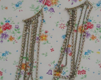 Special Party Japanese Earrings.80s