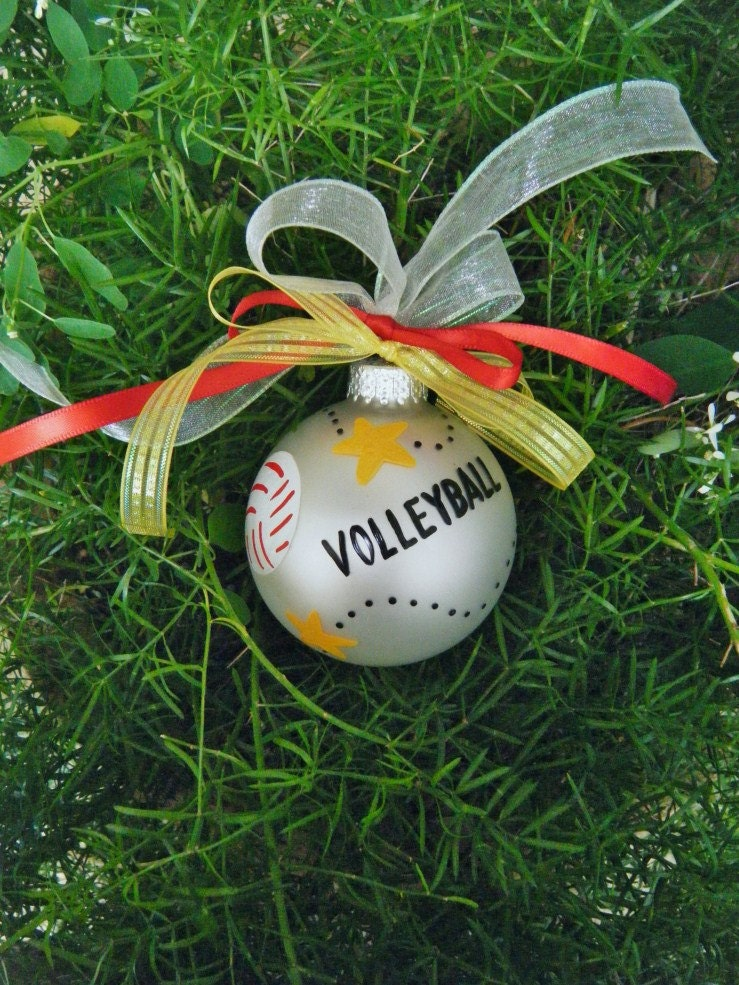 Volleyball Ornament Personalized Christmas Ornament Hand