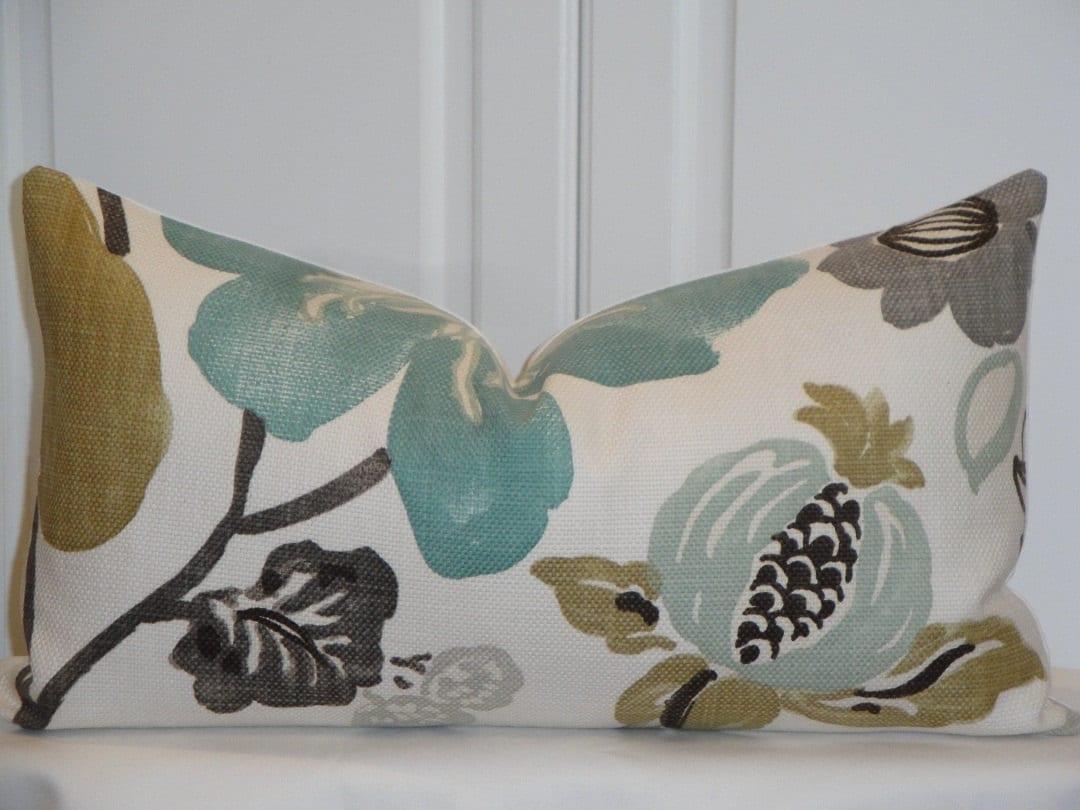 decorative pillow cover throw pillow accent pillow teal