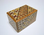 Japanese Puzzle box (Himitsu bako)-2.8inch(73mm) Open by 5steps Yosegi