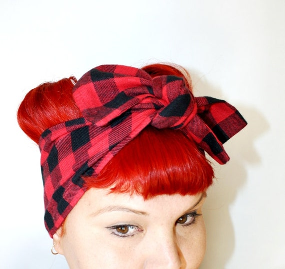 Bow Style, Red and Black Checkered Flannel, Sneak Peak Fall Collection, Back to School