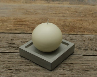 CLEARANCE SALE 50% OFF Concrete Candle Holder / Tray