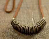 Wood and Leather Necklace
