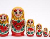 7 piece Russian doll Stacking matryoshka doll nesting family free shipping