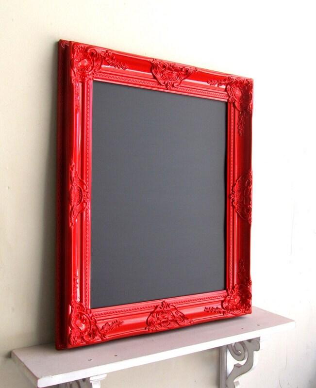 Red Magnetic CHALKBOARD Framed Chalkboard Menu Kitchen Black