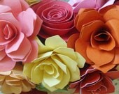 Special Order for   Paper Roses   qty 20 in Pastel colors jewel tones earth tones