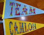 Pair of Personalized Classroom Pennants