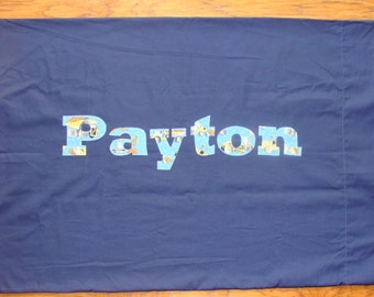 Boy's Personalized Construction Pillow case