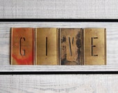 "R E S E R V E D  ""GIVE"" Vintage Brass Letter Stencils / Partial Alphabet and Ampersand / Choose Your Initial(s) or Word(s)"