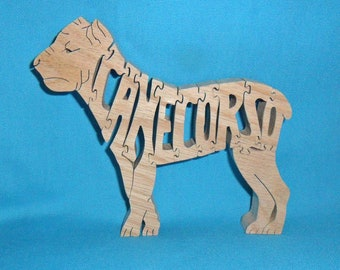 Cane Corso Dog Scroll Saw Wooden Puzzle