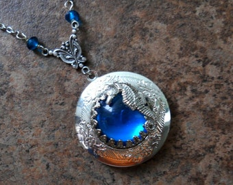 Seahorse in the Carribean Locket by Enchanted Lockets