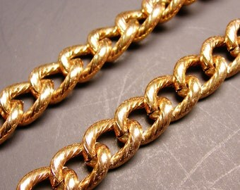 Aluminium chain - lead free nickel free won't tarnish .1 meter-3.3 feet nice copper color - CA 48