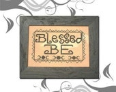 PDF E Pattern Emailed Blessed Be Wicca Goddess Primitive Sampler Cross Stitch Pattern 3 *