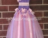Bow Holder, Lavender and Pink Tutu Hair Bow Holder