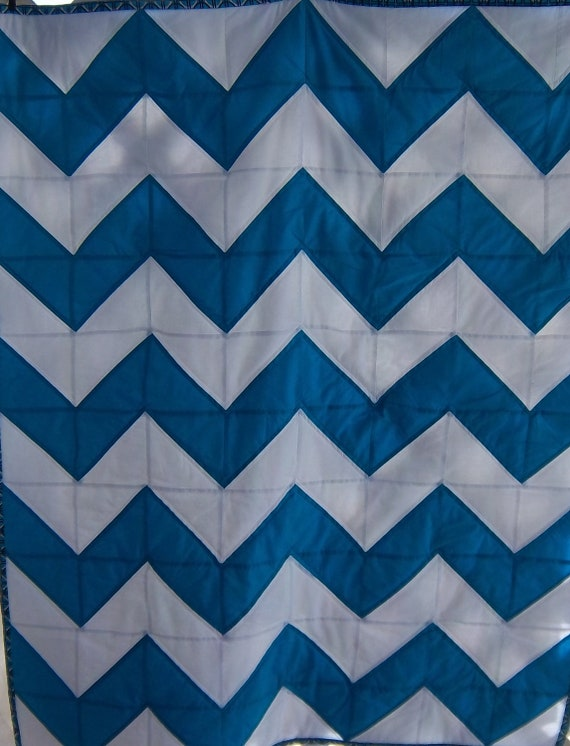 SALE Modern Chevron Baby Quilt in Soho by DreamyVintageSheets