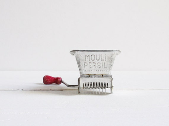 Vintage Mouli Persil, A French herb mincer