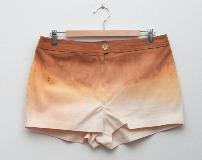 Dip Hand dyed Dead Stock Vintage white Jeans Shorts size L