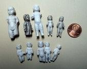 FROZEN CHARLOTTES LOT - Tiny - Porcelain, Bisque, Antique,Vintage Dolls