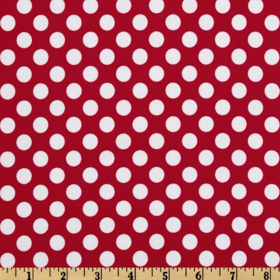 All About the Dots, RED Rainpuk, Michael Miller Fabric SOFTSHELL, raincoat kuspuk for women and girls