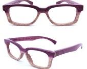 Paris Autumn  handmade vintage purple wood  wooden sunglasses glasses eyeglasses
