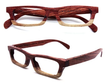 Love-wood Two-tone Rosewood Takemoto Eyeglasses Glasses Frame