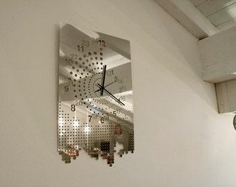 Mirror Wall Clock mirror wall clock | etsy