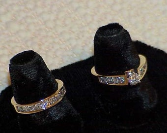 14K 2.00 Ct Diamond Bridal Engagement 2 Ring Band Set Yellow Gold Wedding 2 Ring Set VS