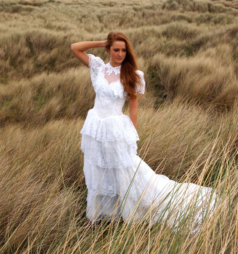 Blossom vintage wedding dress french vintage stunning white for French vintage wedding dresses