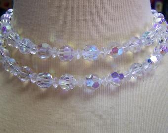 V123 Vintage Aurora Borealis Necklace