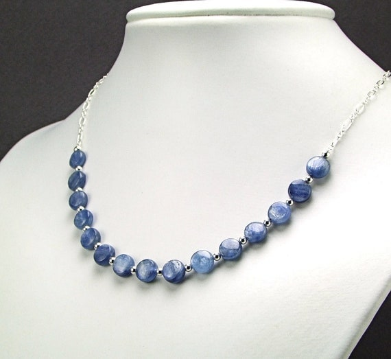Ice Blue Kyanite & Sterling Silver Necklace - N559