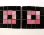 Mosaic Coasters - Pink Square