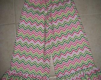 Robert Kaufman Remix Chevron Single Ruffle Pants 6 12 18 24 2t 3t 4t 5t 6 7 8 Years