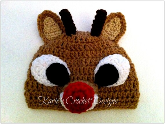 Items similar to RUDOLPH The Red Nosed Reindeer Crochet ...