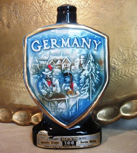 Jim Beam Whiskey Germany Liquor Decanter Bottle Barware