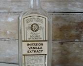 Vintage Watkins Vanilla Extract Glass Bottle (S)