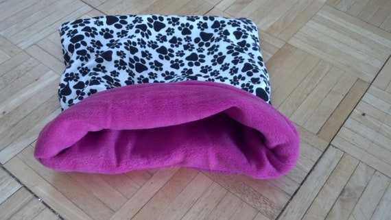 SALE Large Paw Print pouch for small animals.