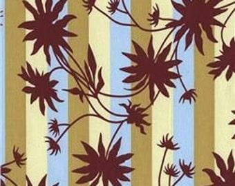 Cotton Fabric - Joel Dewberry - Chestnut Hill Black Eyed Susan Stripe Lichen - by the yard