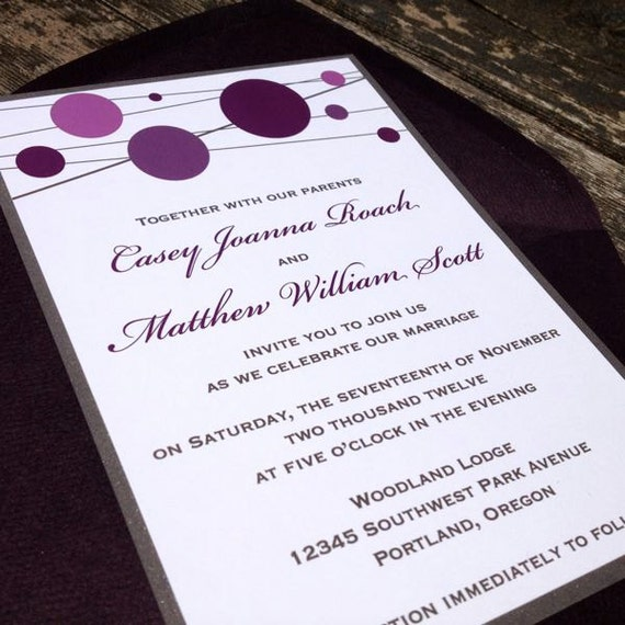 Modern Wedding Invite Wording: Items Similar To Fun And Modern Wedding Invitation